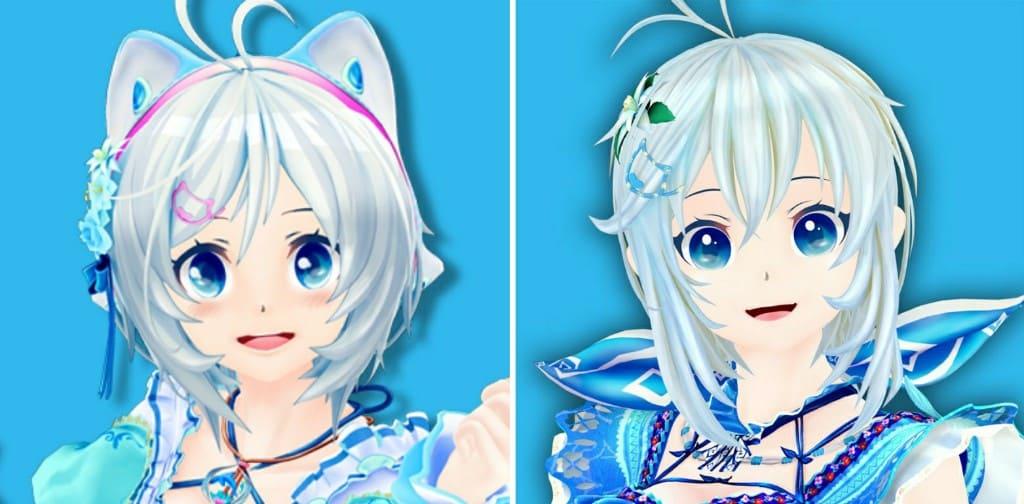 電脳少女シロ 新旧顔面比較