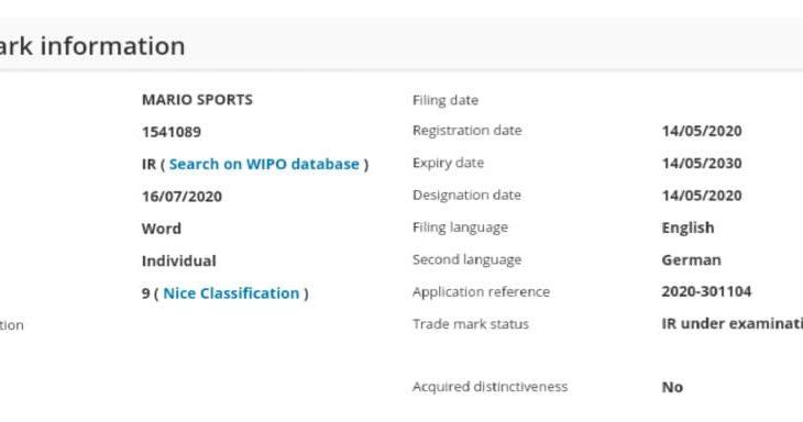 任天堂 欧州・豪州で「MARIO SPORTS (マリオスポーツ)」を商標申請