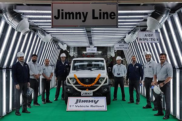 スズキ インドでジムニーの生産・輸出を開始