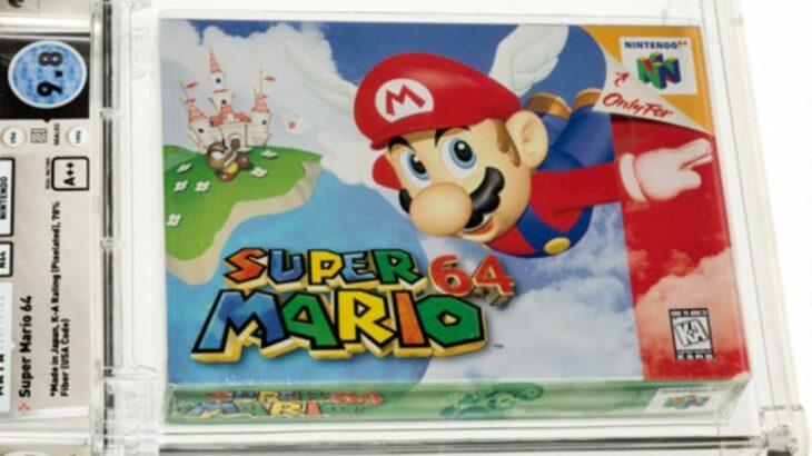 未開封の「スーパーマリオ64」オークションで156万ドル (約1億7190万円) で落札